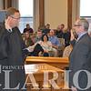 AJ Cooper being sworn in by Judge Penrod.