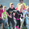 "Students from St. Joseph Catholic School jogged around the school for about 20 minutes Monday afternoon as part of the annual Red Ribbon Week campaign. Monday's theme was ""run away from drugs."""