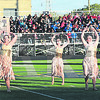 PCHS's flag team performs during Saturday evening's Indiana State Scholastic Music Association Open Class C Semi-State Marching Band competiton.