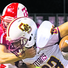 Nic Maurer completes one reception for eight yards in a victory over Tell City.
