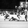 Tiger quarterback Maleek Hardiman hurdles his own teammate on a keeper play in a 56-15 bashing of the Washington Hatchets on Friday at Tiger Stadium.