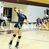 Megan Niehaus serves in a match against Washington last week. On Tuesday night in a match against Evansville Reitz, Niehaus tallied two kills, one ace, five digs and three blocks.