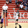 PCHS senior Brooke James tallies 11 kills and six aces in a 3-0 victory over Vincennes Rivet on Wednesday.