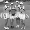 The four Gibson Southern  Lady Titans named to the All-Conference girls golf team. From left: Allie Sensmeier, .Julia Angermeier, Kenzie Whitten and Ellie Sensmeier.