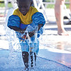 Quiche Matchen/ Daily Clarion<br /> Jabari Hays, 2, plays in the water at Princeton Aquatic Center Saturday evening prior to the Summer 2 School Backpack Bash. Hays has been coming to aquatic center since he was 4-months-old.