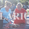 Quiche Matchen/ Daily Clarion<br /> Cynthia Schrodt and Nancy Neese of the Princeton Presbyterian Parish sort through the scissors and paper the church donated to the Summer 2 School Backpack Bash Saturday at Lafayette Park.