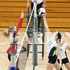 Lucas Whitten/Daily Clarion Archive<br /> Lexi Lashbrook goes for the kill in a 3-0 victory over North Knox least season.