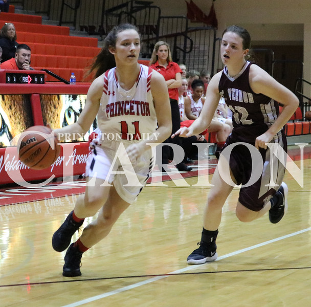 Lucas Whitten/Daily Clarion Archive<br /> Tiger freshman Hannah Sisk drives to the basket on Tuesday in Tiger Arena in a contest against the Mt. Vernon Lady Wildcats.