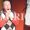 "Quiche Matchen/ Daily Clarion <br /> Rod Vickers gasps as he talks about Poinsettias as ""Phil"" during rehearsal for ""Uh-Oh, Here Comes Christmas"" the play presented by Broadway Players at Princeton Theatre and Community Center Thursday night. The show kicks off Friday and the last show is Dec. 9."