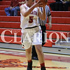 Lucas Whitten/Daily Clarion<br /> Reaghan Page prepares at pass at Tiger Arena on Tuesday night against the Mt. Vernon Lady Wildcats.