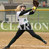 Lucas Whitten/Daily Clarion Archive<br /> <br /> Kenzie Tooley pitches against Loogootee at WMHS last season, allowing six runs to score before the game was suspended in the third inning.