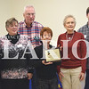 Quiche Matchen/ Daily Clarion <br /> <br /> Master Gardeners were awarded the Friends of Conservation Award at the Gibson County Soil and Water Conservation District's 70th annual meeting last Thursday. Pictured are Ann Ice, Lillian and Stu Swenson, Nancy Harper, June Neyhouse, and Chris MacKay.