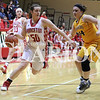 Lucas Whitten/Daily Clarion Archive<br /> <br /> Brooke James tallies a career-high 39 points in a contest against the Pike Central High School Lady Chargers on Jan. 19 at Princeton Community High School. James and the Lady Tigers will face off with the Lady Chargers on Tuesday night at Vincennes Lincoln High School at 5:30 p.m. in the 2016-17 sectional opener.