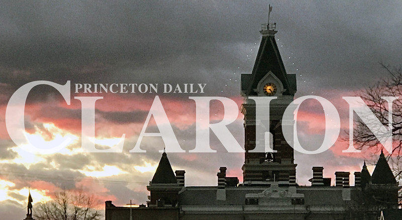 Daily Clarion/Andrea Howe<br /> Sailors' delight?<br /> Red sky at night, sailors' delight is the saying, and the sky over the Gibson County Courthouse Thursday evening matches the forecast for a sunny Friday. Then, it's wind and rain in the forecast for the close of 2016 and New Year's Day.