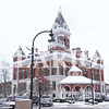 Quiche Matchen/ Daily Clarion <br /> <br /> Gibson County Courthouse was covered with snow Thursday morning. The county got it's first snow early Thursday morning which resulted in the cancelation of all Gibson County schools