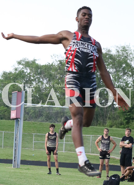 Lucas Whitten/Daily Clarion Archive<br /> <br /> Javon Wilkerson leaps in the long jump at the Princeton Community High School hosted sectional in late May.