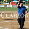 Lucas Whitten/Daily Clarion<br /> <br /> Denny McLain throws out the first pitch at Jack Bishop Ballpark for a contest between Ft. Branch and Princeton on Friday.