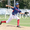 Lucas Whitten/Daily Clarion Archive<br /> <br /> Austin Walden pitches at Gil Hodges Field in 2016 for Princeton Post 25.