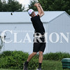 Lucas Whitten/Daily Clarion<br /> Titan Jacob Murphy tees off at the 2017 Gibson County meet at Oakland City Country Club last week. On Friday, Murphy shot a 74 at the Country Club of Old Vincennes, the third lowest score of the day, during sectional play.