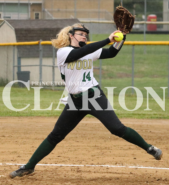 Lucas Whitten/Daily Clarion Archive<br /> <br /> Kenzie Tooley pitches during a contest against Loogootee at WMHS, allowing six runs to score before the game was suspended in the third inning.