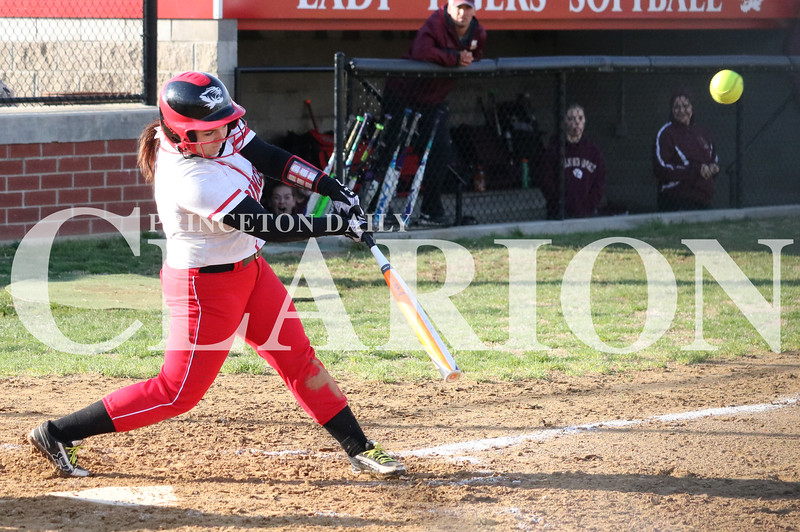 Lucas Whitten/Daily Clarion Archive<br /> <br /> Tori Matthews goes 2-3 from the plate with a RBI and a run scored in a 5-3 loss to Mount Carmel at Princeton Community High School this season.