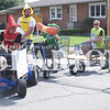 Quiche Matchen/ Daily Clarion<br /> R'z Cafe and Catering float won Judge's Choice at the annual Fort Branch Community Pride Festival Saturday evening. The float had a hotdog, ketchup, mustard and relish riding around in electric carts. Tim and Matt Dunkel, Justin Scheller and Jeter Simmons were all apart of putting the float together and R'z Owner Candy Yancey provided the costumes.