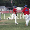 Lucas Whitten/Daily Clarion<br /> <br /> Grant Oxemann rounds third base after smashing a 2-run homer in a 20-5 Post 25 victory over Rockport on Tuesday at Gil Hodges Field.
