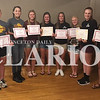 photo provided<br /> <br /> The Gibson Southern High School Lady Titans tennis team honored its players last weekend at The Log Inn. From left: Lexie Birch (Rising Star), Kate Sorg (Iron Women), Hayley Doty (Iron Women), Camille Greenwell (Captain and MVP), Katie Scott (Career Wins Record), Arielle Graper (Academic Award and MVP), Shelby Braselton (Most Improved), Brooke Goedde (Most Improved). The team also announced All-District Winners in Rachel Jones for singles and Greenwell/Graper and Scott/Doty for doubles.