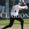 Lucas Whitten/Daily Clarion<br /> <br /> Trojan senior Sydney Day records a hit last week against Mt. Vernon High School at WMHS. On Monday, Day was 4-4 from the plate with two runs scored and five RBIs, including her first ever out of the park homerun, in a 9-0 victory over Barr-Reeve.
