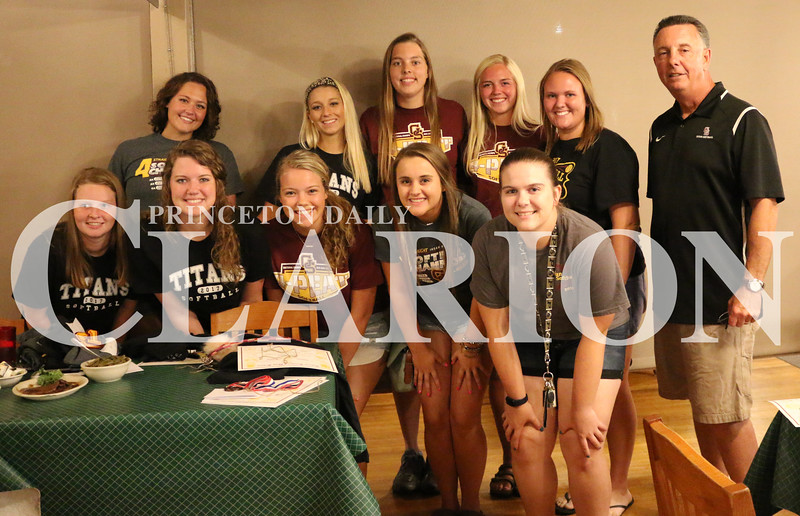 photo provided <br /> <br /> The Gibson Southern High School softball seniors at Log Inn during the 2017 awards banquet on Tuesday.