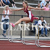 Lucas Whitten/Daily Clarion<br /> Sammi Bittner hurdles at the Evansville Central hosted regional last week en route to a first place finish in the 300 hurdles event.