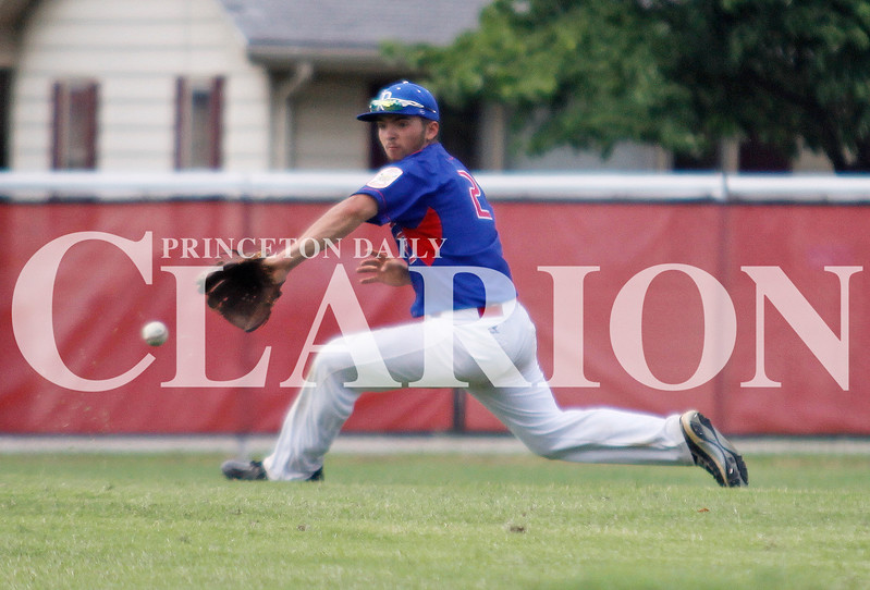 Daily Clarion Archives<br /> <br /> Treven Madden fields a groundball in 2015 at Gil Hodges Field. On Thursday, Madden was 3-6 from the plate with two RBIs in a 10-2 Post 25 victory.