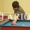 Quiche Matchen/ Daily Clarion<br />  Shane Bausch, 12, plays pool at the Gibson County Youth Center Tuesday after school. The center offers after-school activities for youth across the street from the Princeton Public Library on South Hart Street in Princeton.