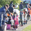 Quiche Matchen/ Daily Clarion<br /> Francisco Elementary School students walk through town to collect Halloween candy Tuesday morning. The walk has been a tradition at the school for more than 15 years.