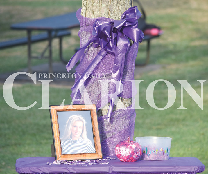 Quiche Matchen/ Daily Clarion<br /> A table was set up to remember Jesica Tice, who was a victim of domestic violence.