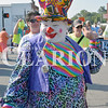 Daily Clarion/Andrea Howe<br /> Clowning around in Monday's Labor Day parade.