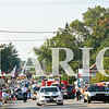 Daily Clarion/Andrea Howe<br /> The 131st Labor Day Celebration parade fills South Main Street, approaching the Gibson County Courthouse square Monday.