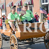 Daily Clarion/Andrea Howe<br /> Bob Schmits in his horseless carriage in Monday's Labor Day Parade.