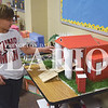 Quiche Matchen/ Daily Clarion <br /> Landon McCraw, Princeton Community Primary North student, shows his miniature building of the Princeton Public Library. The project was part of a three-dimensional project for his math class. Other buildings include Casey's General Store, Gibson County Courthouse, Goody's and other buildings.