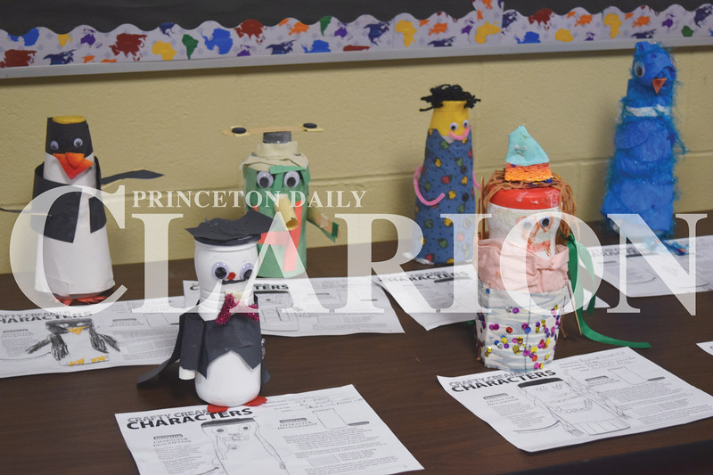 Quiche Matchen/ Daily Clarion <br /> Princeton Community Primary North students made crafty creamer characters made out of coffee creamer containers.