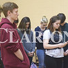 Quiche Matchen/ Daily Clarion <br /> Almost 20 Gibson Southern High School students left their third period class to go into the auxiliary gym for a brief moment of silence and then talked about gun control.