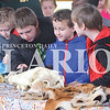 Quiche Matchen/ Daily Clarion <br /> Oakland City Elementary students admire  animal skulls and tiger fur at the 18th annual Toyota Earth Camp at YMCA  Camp Carson Tuesday morning.