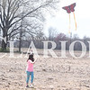 Quiche Matchen/ Daily Clarion <br /> Jenna Ellis, 10, flies a butterfly kite that was given to her at the first-ever Kite Day at Lyles Station Saturday afternoon.