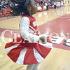 Daily Clarion/Andrea Howe<br /> Di'Asia Ballard dances to Princeton Community High School Pep Band music before Saturday's Tiger homecoming game with Barr Reeve. Ballard changed out of her cheerleading uniform to serve as a crownbearer in homecoming coronation of Heath Rumple and Allison Craven at halftime of the game.