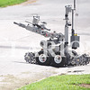 Quiche Matchen/ Daily Clarion archive<br /> An Evansville Police Department bomb squad robot goes toward a suspicious object on the 200 block of South Prince Street in Princeton.