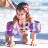 Quiche Matchen/ Daily Clarion archive<br /> Aizlee Bailey, 2, climbs out of the water at the Princeton Aquatic Center to get her goggles.