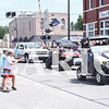 Quiche Matchen/ Daily Clarion archive.<br /> Local kids spray parade participants during the 51st annual Haubstadt Sommerfest parade.