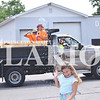 Quiche Matchen/ Daily Clarion archive.<br /> Sydney Hubbard, 7, laughs and turns her head as Haubstadt employees spray water at the 51st annual Haubstadt Sommerfest parade.