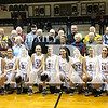 Several Fort Branch alumni joined together with Gibson Southern's girls basketball team and cheerleaders after the game at Fort Branch Saturday.