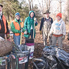 Daily Clarion archive<br /> Volunteers Bill McCoy, Sue Vernier, Marietta Smith, Tom Mosley, Nancy Gehlhausen, and Val McCoy clean up trails.